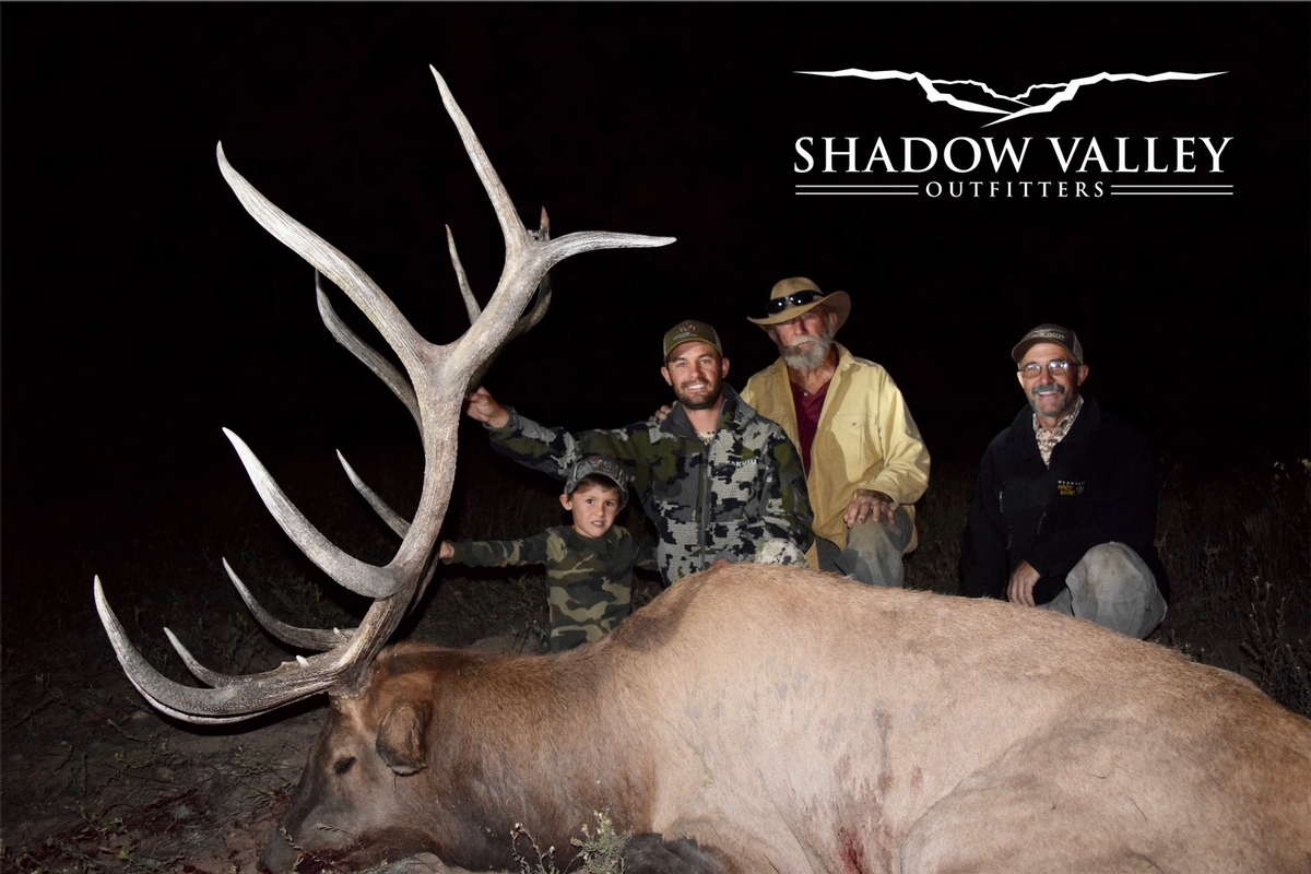 Four Generations of hunting in one picture and a great bull.